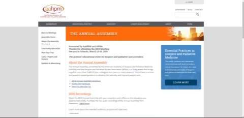 Picture of Annual Assembly Landing Webpage Digital Advertisement